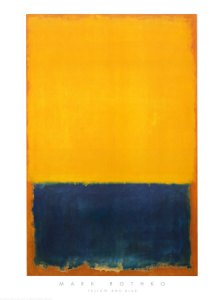 Yellow and Blue Mark Rothko Print