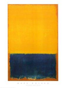 Yellow and Blue Mark Rothko Print