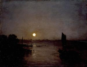 Moonlight, a Study at Millbank exhibited 1797 by Joseph Mallord William Turner 1775-1851