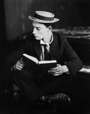 Buster reading