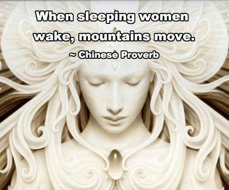 sleeping women waking