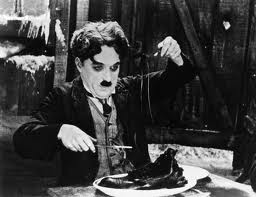 chaplin eating shoe